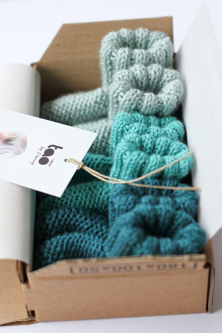 les tricots de Granny: trio de chaussons
