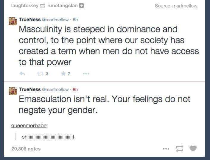 """When the term """"emasculation"""" was totally emasculated:"""
