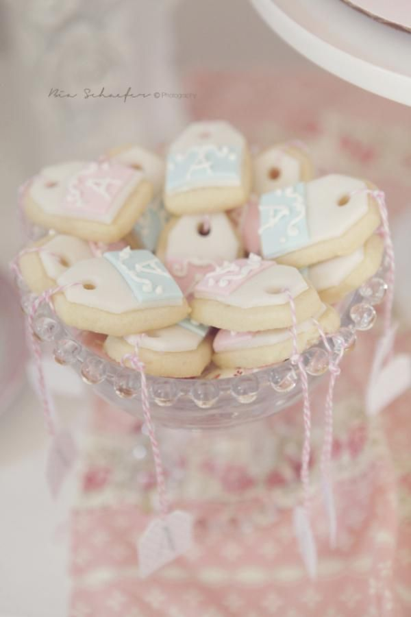 Love these tea party inspired tea bag cookies!
