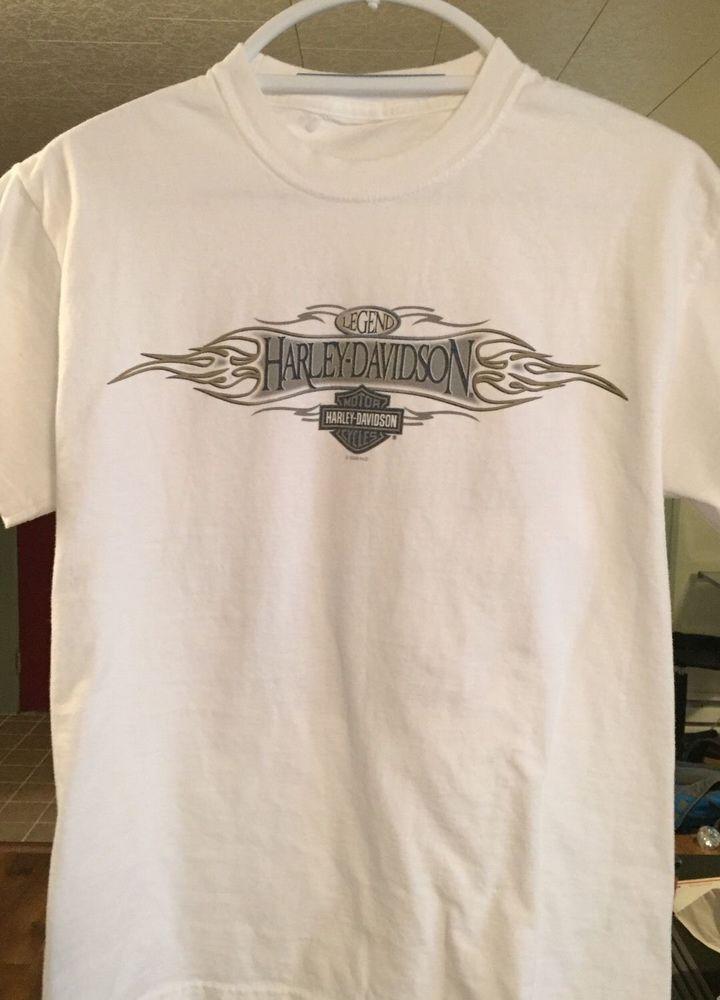 Harley Davidson Motorcycles Mens Tee Shirt T Shirt Alton Illinois White T S S Harleydavidson Graphictee Long Sleeve Tshirt Men Mens Tee Shirts Mens Tees
