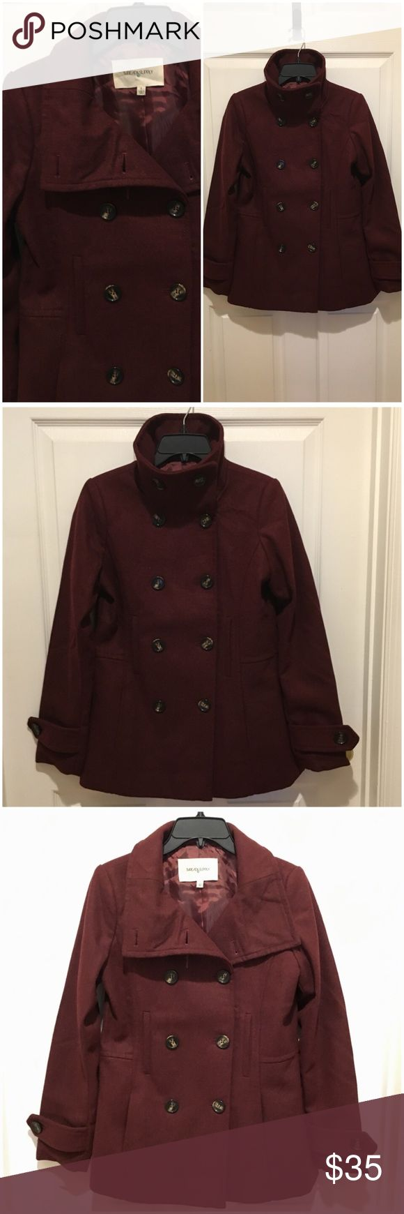 Thread & Supply Double breasted Peacoat Double-breasted peacoat in beautiful Oxblood color - Bought from Nordstrom, sold out color - Excellent condition, Never used, just stored after purchase - Very flattering fit and a perfect transitional coat ❤️All of my items are stored in a smoke-free & pet-free home. ❤️Free gifts await buyers with purchases of $50 or more. Thread and Supply Jackets & Coats Pea Coats