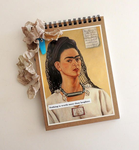 Frida Kahlo was an amazing woman artist. For lovers of her art and life these notebooks make a wonderful little gift. I once read that Frida included a feather whenever she sent letters. Included with the notebook is a tiny stamped envelope with a real feather. Just the Facts: Size: