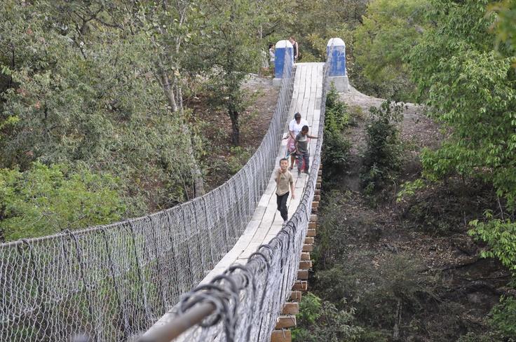 pedestrian bridge, Guatemala. Bridges to Prosperity