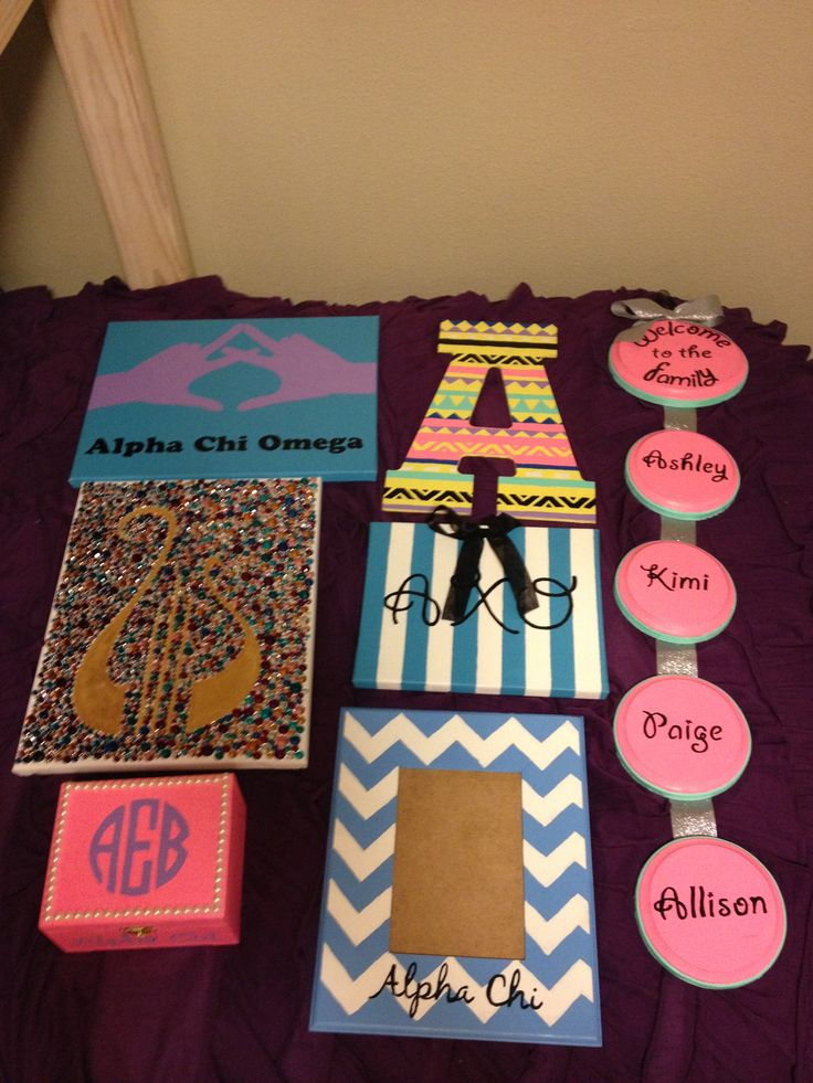 Sorority family tree craft ideas for Sorority crafts for little