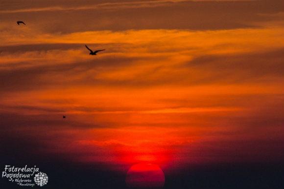 Zachód słońca w Pobierowie
