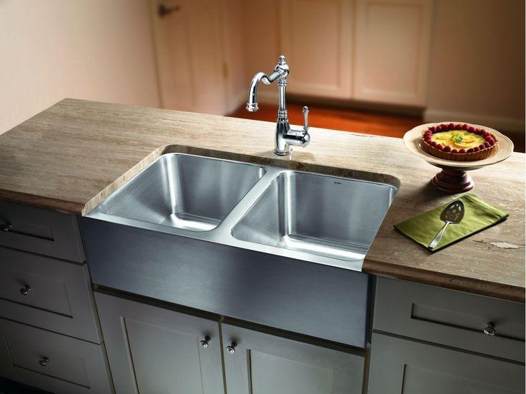 Elegant Edelstahl Doppel Bowl Bauernhaus Waschbecken   Küchenmöbel Überprüfen Sie  Mehr Unter Http://loungemobel Images