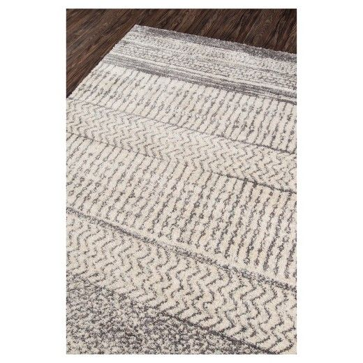 Ivory Abstract Loomed Area Rug