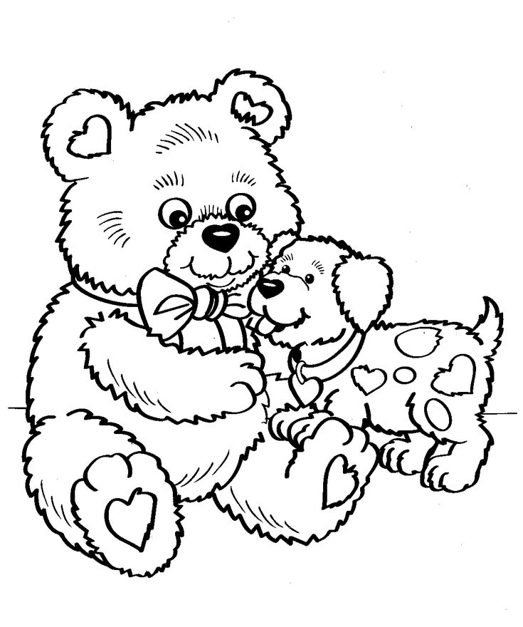 Free Printable Coloring Pages Teddy Bear : 77 best coloring pages bears images on pinterest