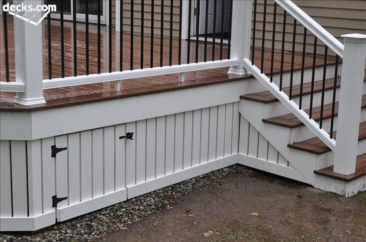 deck skirt | Here is a nice example of how you can install skirting, fascia and an ...