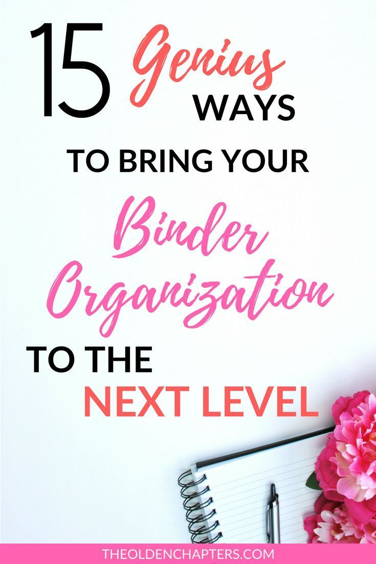 15 Top Tips to an Organized College Binder   Organization