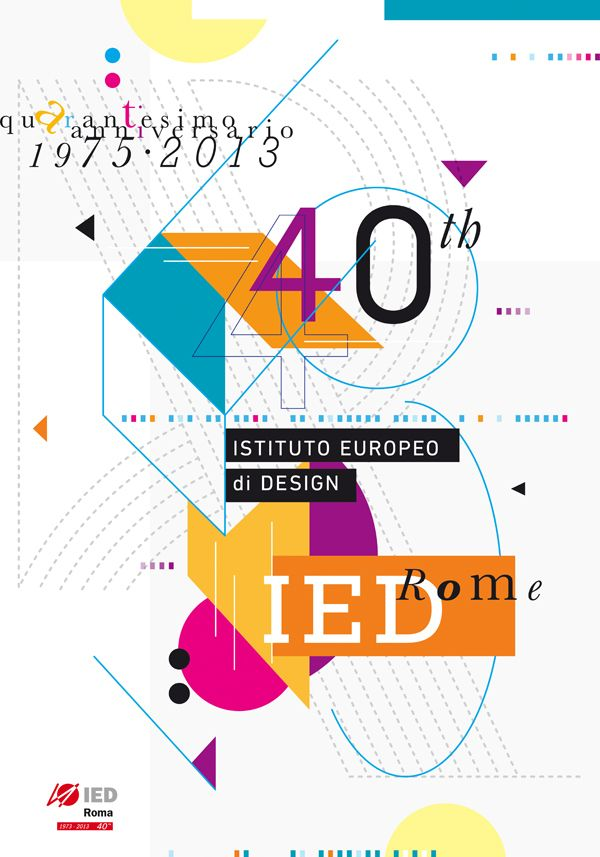 40 anni IED on Behance