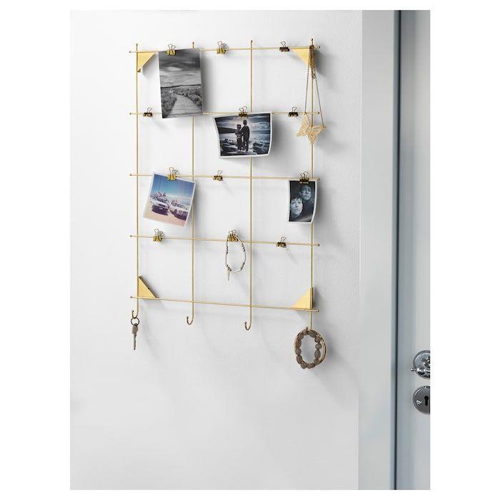 Myrheden Tableau Memo Avec Pinces Couleur Laiton Tableau Memo Ikea Decoration Meuble