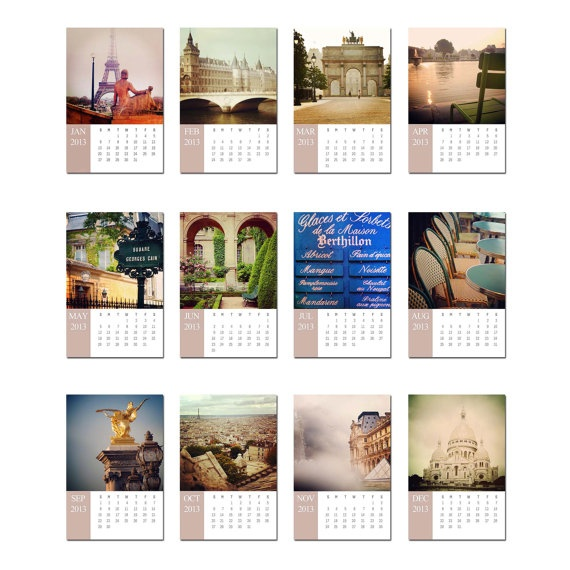 Desk Calendar, 2013 Paris Desk Calendar with Stand, Lynn Cameron Photography. $22.00, via Etsy.