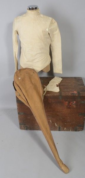 Early C20th Eton College Fencing Club Tunic with Antique Foil Carrying Case. MOA | eBay