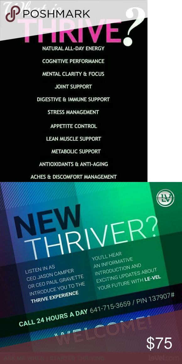Thrive JenD7.Le-Vel.com I'm a promotor for thrive supplement ,  JenD7.Le-Vel.com check out my site.  It helps with mood, fatigue, weight loss, mental clarity & more! Thrive Other
