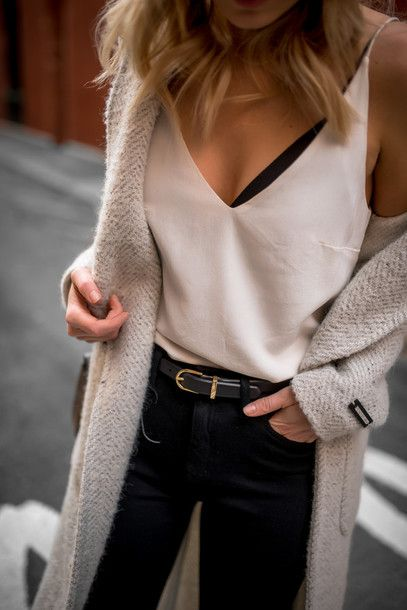 Top: tumblr white coat white coat jeans denim blue jeans belt date outfit