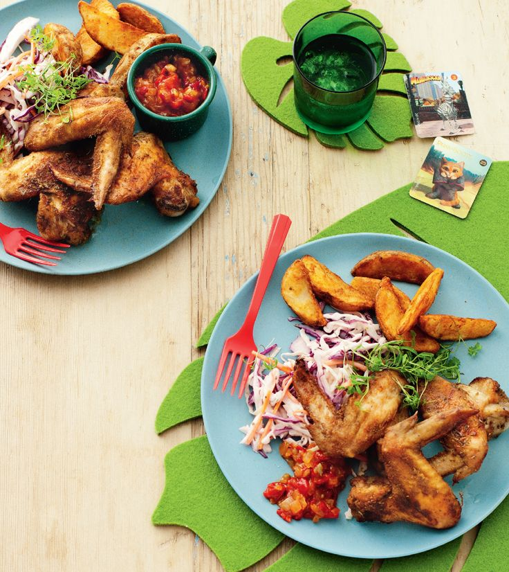 The Croods devilled chicken wings.  http://www2.woolworthsonline.com.au/Shop/Recipe/2454  #Woolworths #recipe #DreamWorksHeroes