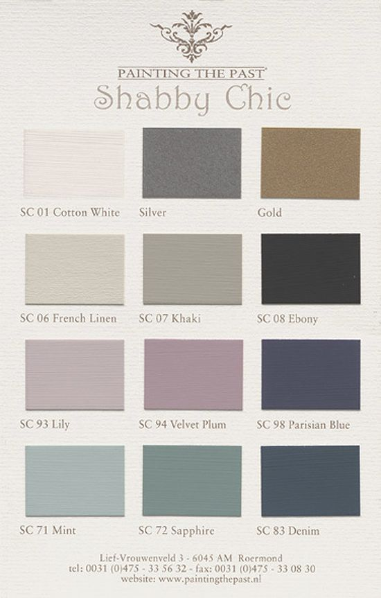 Gorgeous Shabby Chic Paint Colors from Painting the Past