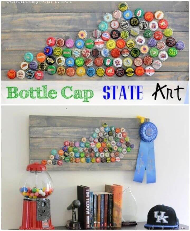 25 Diy Bottle Cap Craft Ideas Plastic Bottle Caps With Images