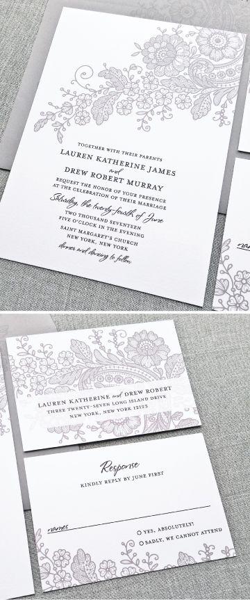 Best 25+ Lace wedding invitations ideas on Pinterest