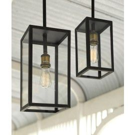 Southampton 1 Light Medium Exterior Pendant in Antique Black