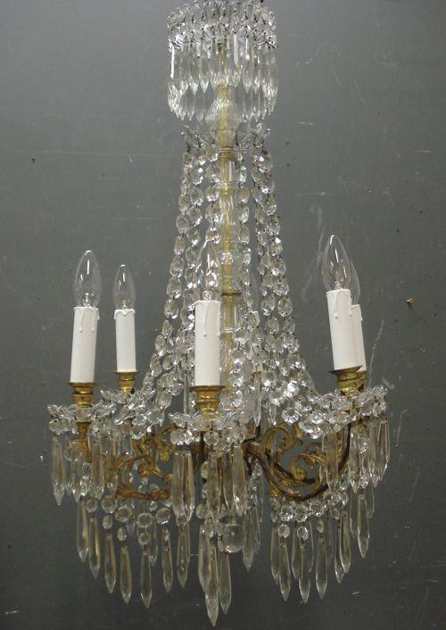 19th Century Antique French chandelier from www.jasperjacks.com