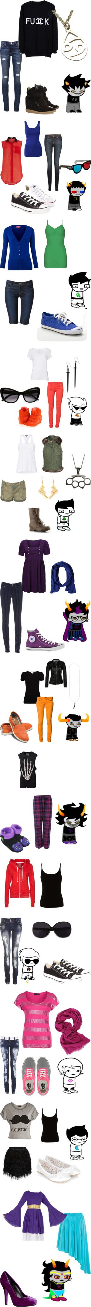 """Homestuck"" by luner ❤ liked on Polyvore  Humanstuck and character-inspired outfits."