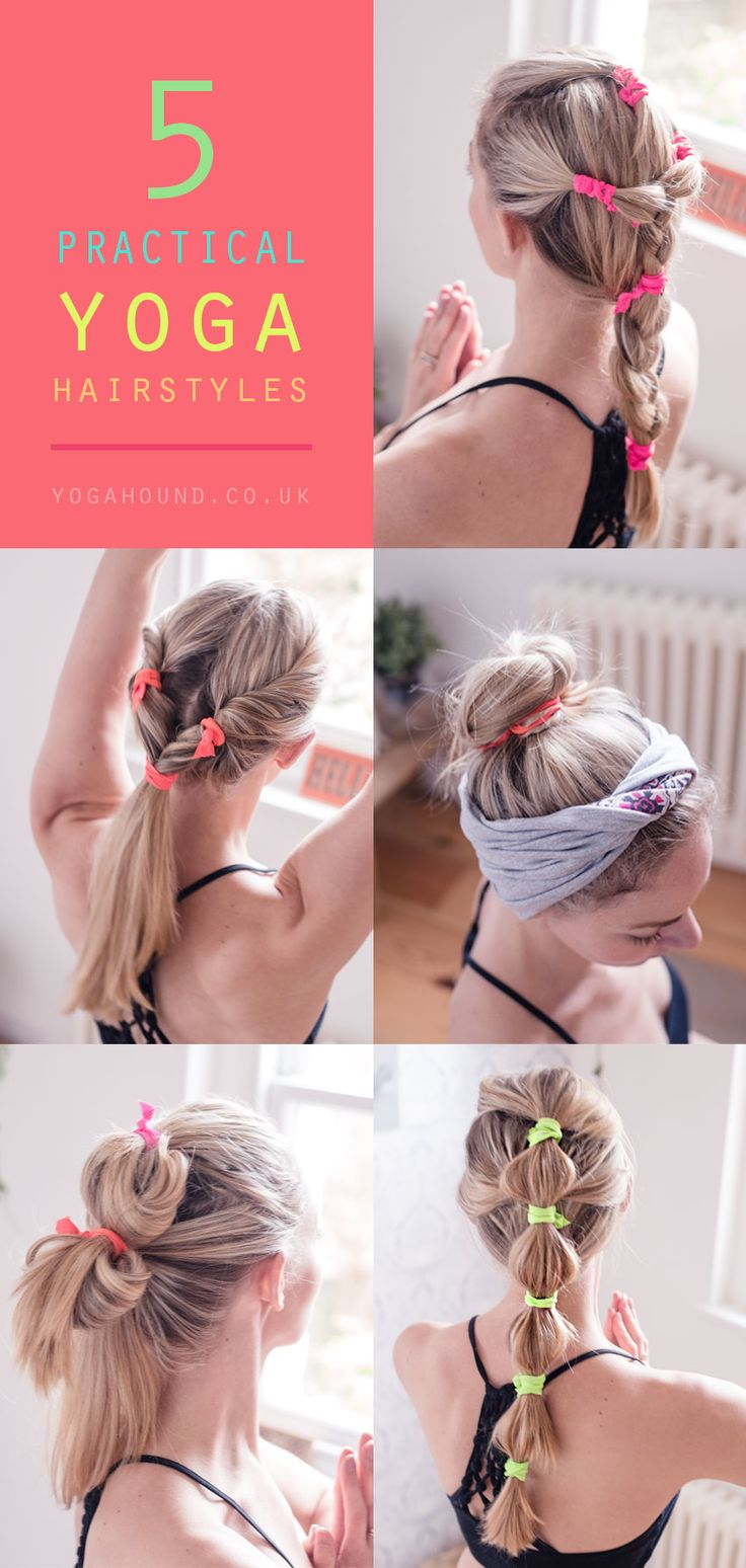 Yoga hairstyles #yogahair #yoga #hairstyles