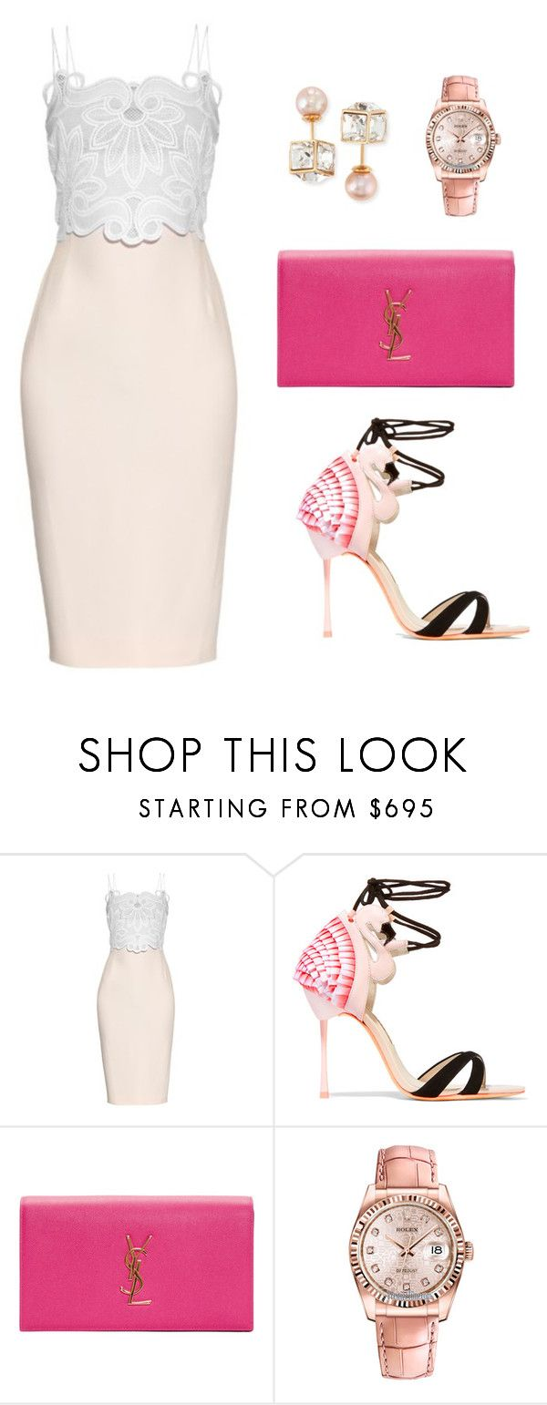 """""""Untitled #314"""" by nadiralorencia ❤ liked on Polyvore featuring Antonio Berardi, Sophia Webster, Yves Saint Laurent, Rolex and Vita Fede"""