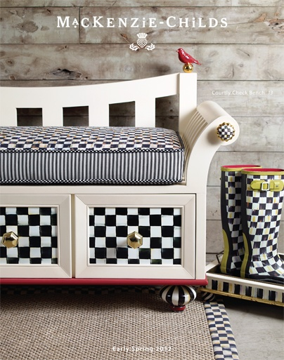 I just got the new catalog and fell in love with this darling Courtly Check bench<3<3