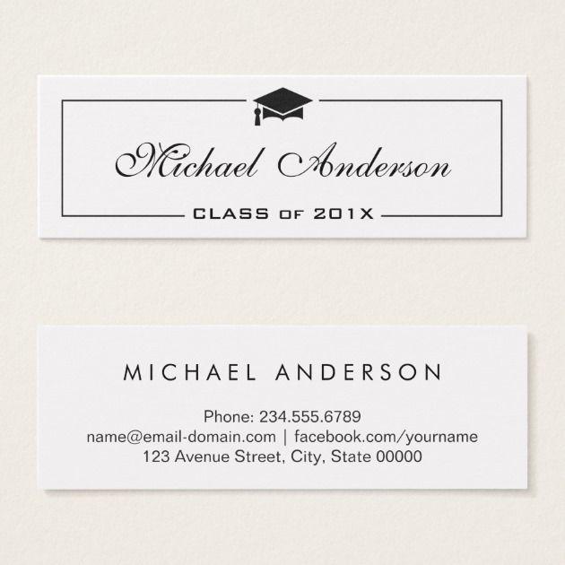 Graduation Name Card Elegant Classic Insert Card Graduation Announcement Cards Name Cards Cards