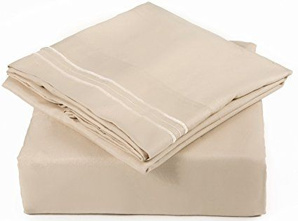 Amazon.com: Queen Size Sheet Set - 6 Piece Set - Hotel Luxury Bed Sheets - Extra Soft - Deep Pockets - Easy Fit - Breathable & Cooling Sheets - Wrinkle Free - Comfy - Tan - Beige Bed Sheets - Queens Sheets - 6 PC: Home & Kitchen