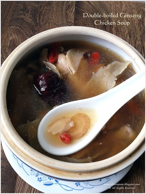 Double-boiled American Ginseng Chicken Soup