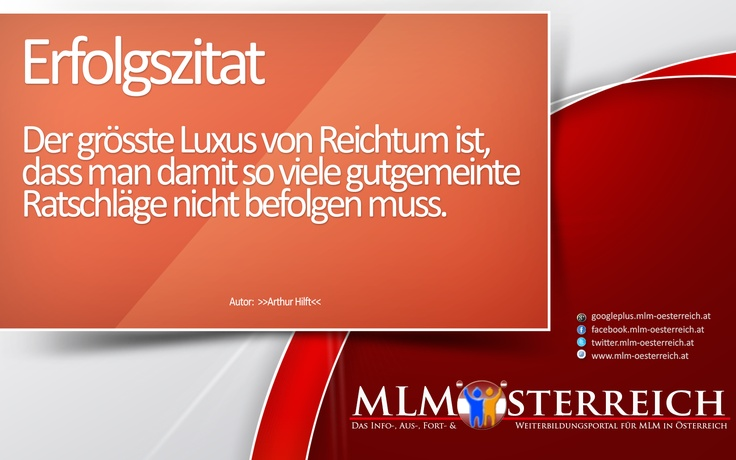 Erfolgszitat vom 16.05.2013 auf MLM-Österreich.at