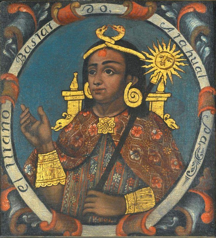 Atahualpa, o 13º e último imperador inca, morreu por estrangulamento, no ano de 1533, pelas mãos dos conquistadores espanhóis liderados por Francisco Pizarro