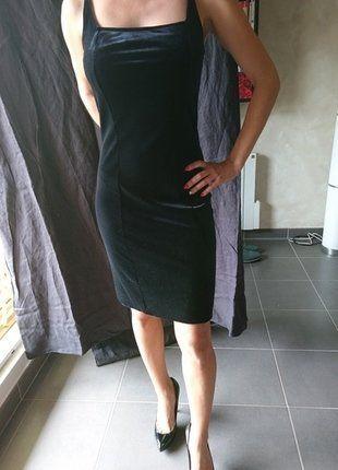 À vendre sur #vintedfrance ! http://www.vinted.fr/mode-femmes/robes-mini/33904510-la-petite-robe-noir-tissu-velours-taille-36-s