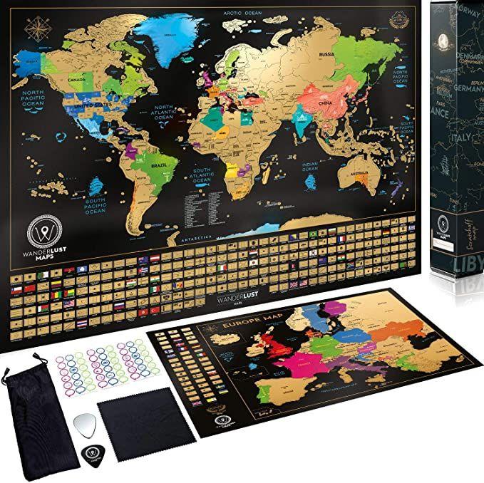 Cartina Mondo Gratta.Mappa Del Mondo Da Grattare Con Bandiere Mappa Europa Da Grattare Mappa Viaggi Qualita Premium Poster Da Parete Idea Regal Mappa Del Mondo Mappe Usa Mappa