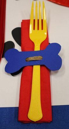 Original idea de decoración para fiesta de cumpleaños de la Patrulla Canina