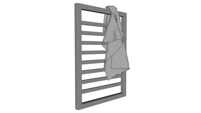 Wall Mounted Towel Warmer - 3D Warehouse