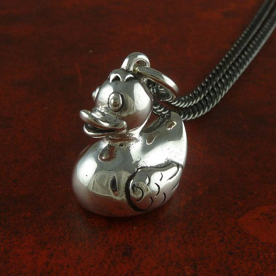 Rubber Duck Necklace Antique Silver Rubber Duck by LostApostle, $50.00