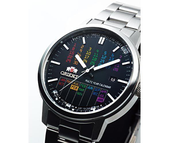 ASCII.jp:オリエント時計、デジタル風フォントの万年カレンダー腕時計