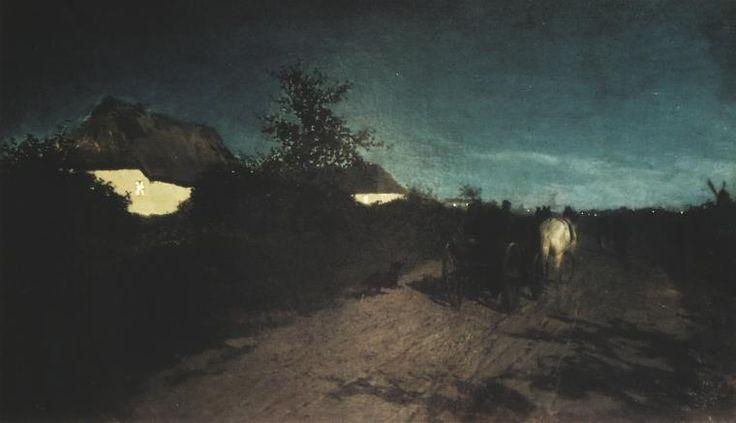Noc (Droga w nocy) Maksymilian Gierymski
