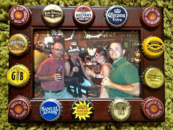 17 best images about beer cap art on pinterest craft for Beer bottle picture frame
