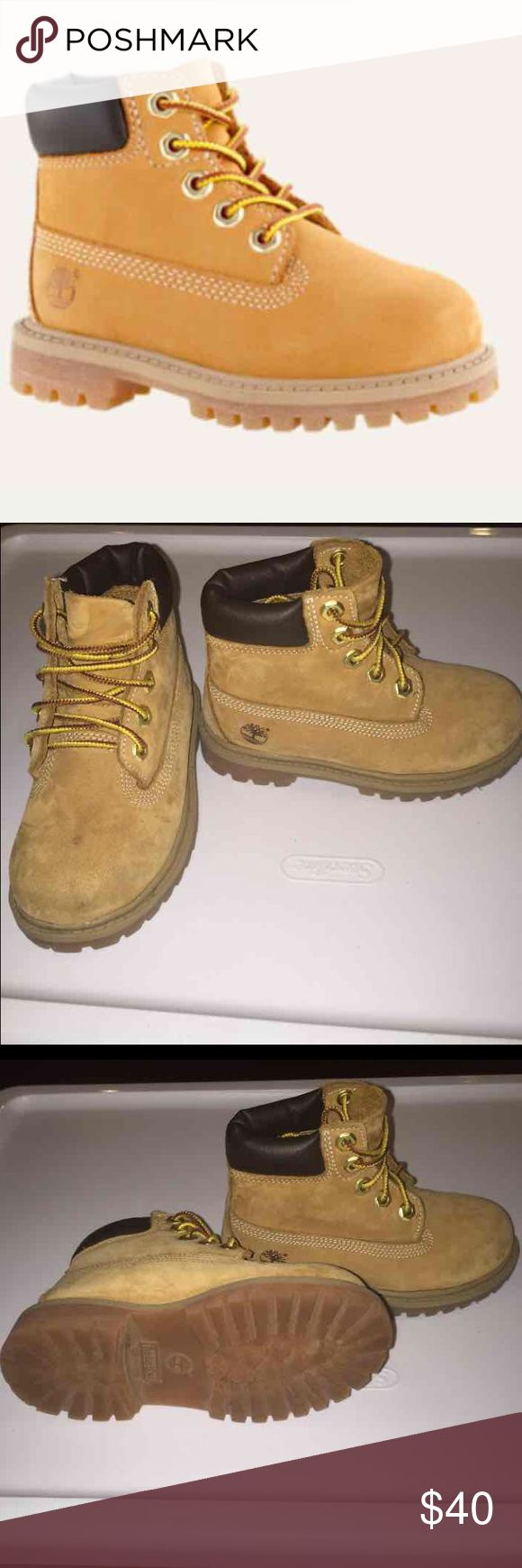 Toddler Timberland boots Boys timberland boots. In wonderful condition. Have been worn a handful of times. Some scuffing. Timberland Shoes Boots