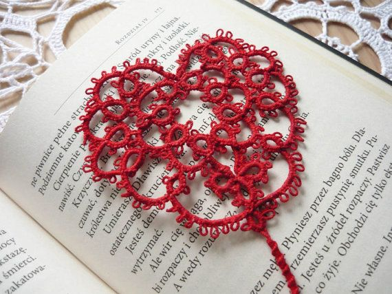 Check out this item in my Etsy shop https://www.etsy.com/listing/269269327/tatted-bookmark-small-red-heart #mariannieart #etsy #bookamark #bookworm #booklovergift #geekgift #Tattedbookmark #tattinggift #nerdgift