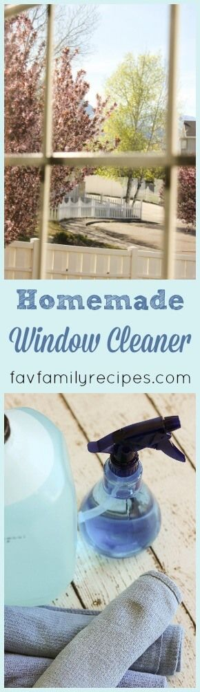Spring cleaning time is here and this Homemade Window Cleaner is a huge help in getting the job done when it comes to cleaning windows. via @favfamilyrecipz
