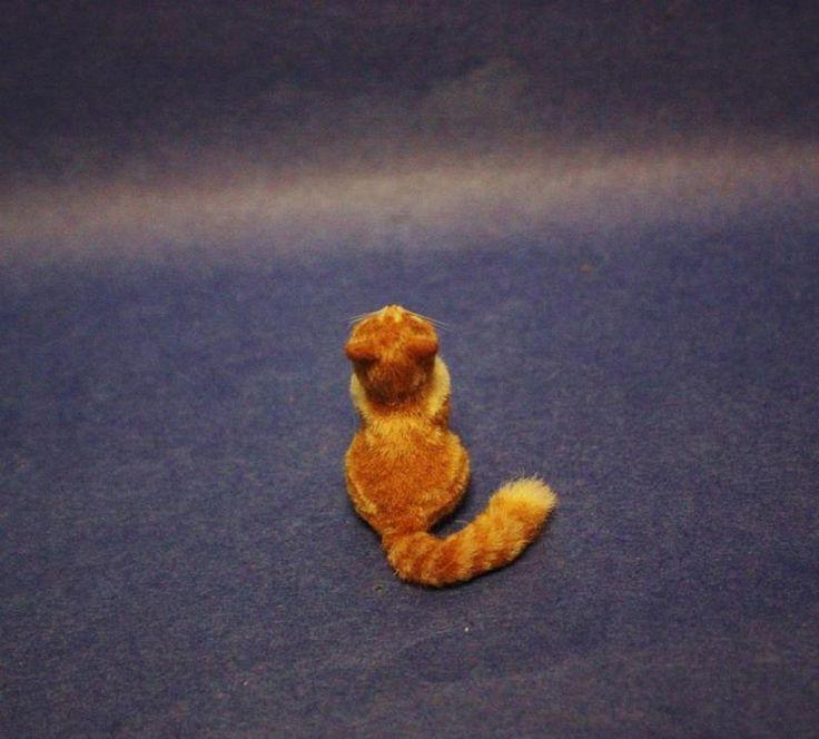 OOAK Dollhouse Miniature 1:12 Handsculpted Orange Tabby Kitten by Kara Lancia