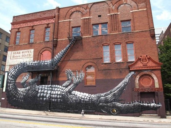 Crocodile alert!Wall Art, Street Artists, Living Wall, Urban Art, Wall Painting, Murals, Tick Tock, Street Art Graffiti, Streetart