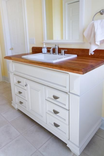 99 best images about butcher block countertops on - Butcher block countertops in bathroom ...