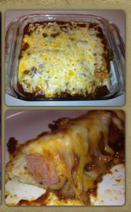 Where has this recipe been all my life?  Chili hot dog casserole.  It's  wonderful for outdoor cookouts and loved by young and old alike!